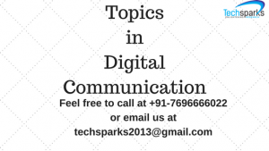 Thesis and Research areas in Digital Communication
