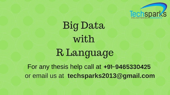 Big data with R language