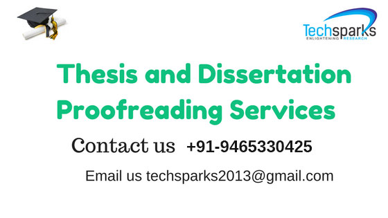 Thesis and Dissertation proofreading services