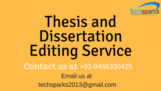 Online Thesis and Dissertation Editing Services in India