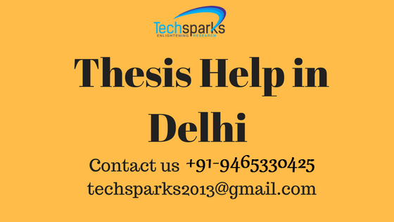 Thesis Help in Delhi